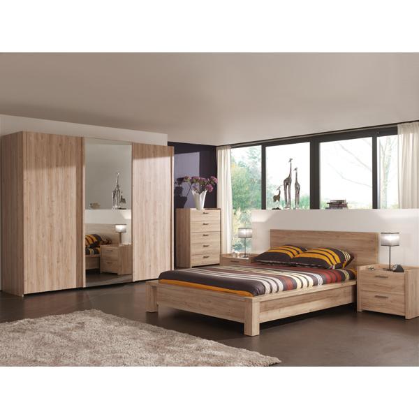 Promo chambre coucher compl te ne mon1 chez nouveau for Petit meuble chambre a coucher