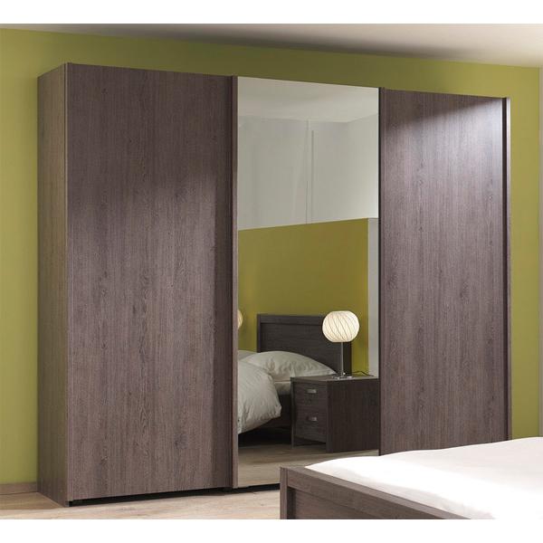 Soldes garde robe 3 portes coulissantes ccgr 002 chez for Garde meuble bruxelles