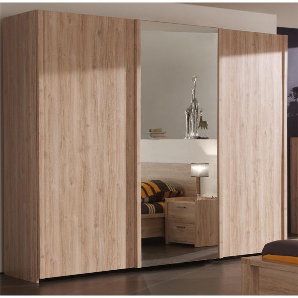 Promo garde robe 3 portes coulissantes ccgr 004 chez - Garde robe porte coulissante belgique ...