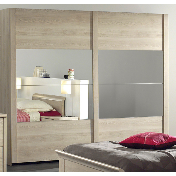 Soldes garde robe 2 portes coulissantes ccgr 005 chez for Garde meuble bruxelles