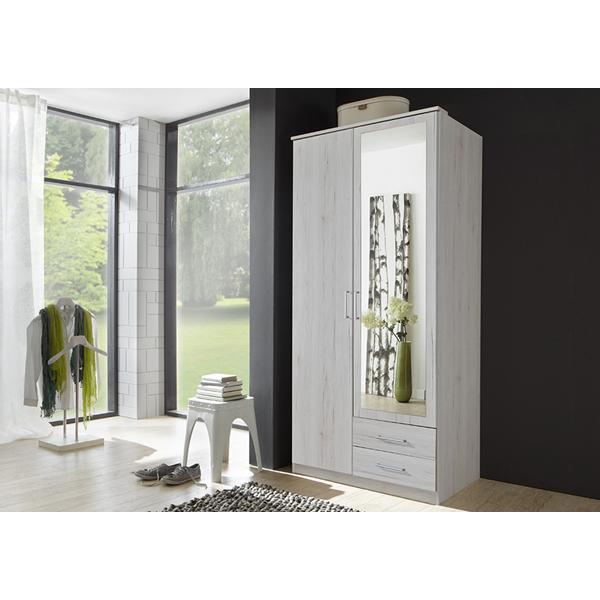 promo garde robe 2 portes ccgr 014 chez nouveau d cor bruxelles anderlecht. Black Bedroom Furniture Sets. Home Design Ideas