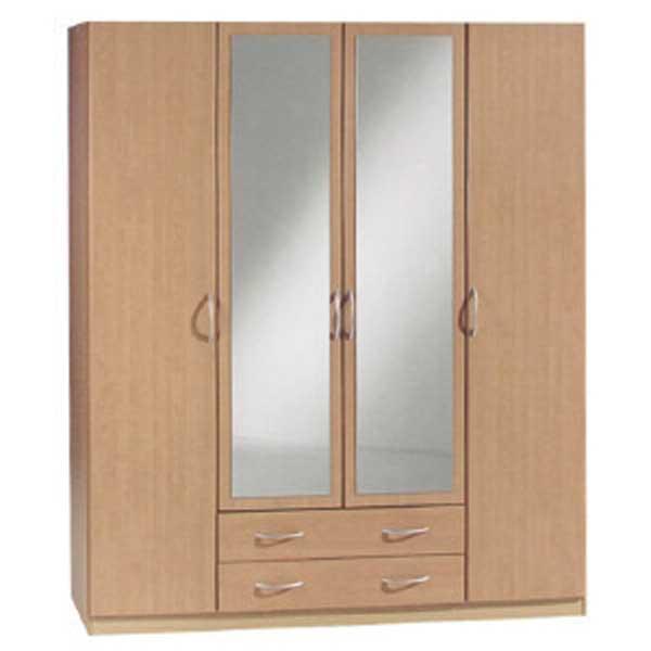 Soldes garde robe 4 portes ccgr 019 chez nouveau d cor for Garde meuble bruxelles