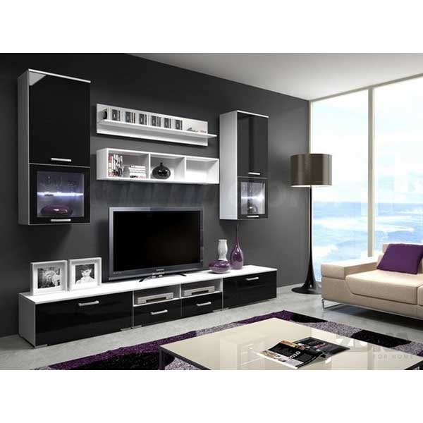 soldes meuble mural tv smtv 001 chez nouveau d cor. Black Bedroom Furniture Sets. Home Design Ideas