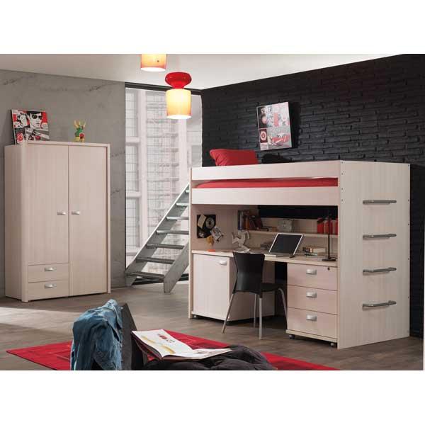 promo chambre coucher compl te jeune ccj 007 chez nouveau d cor bruxelles anderlecht. Black Bedroom Furniture Sets. Home Design Ideas