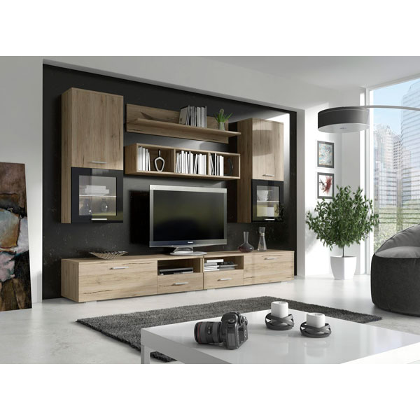 promo meuble mural tv smtv 005 chez nouveau d cor. Black Bedroom Furniture Sets. Home Design Ideas