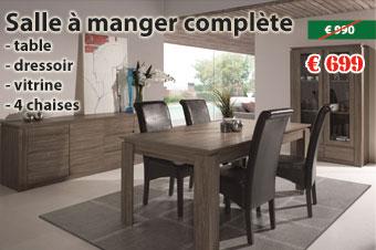 salle manger complte en promotion chez nouveau dcor bruxelles anderlecht - Salle A Coucher