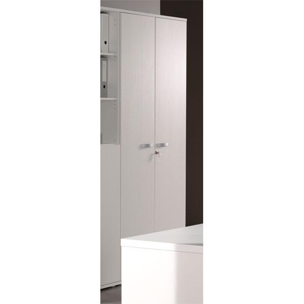 Promo armoire de bureau 2 portes blanc ne alt1d chez for Decoration porte armoire