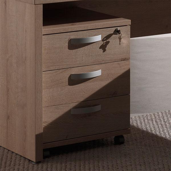 Soldes caisson de bureau 3 tiroirs ch ne ne alt2bs for Petit caisson a tiroir