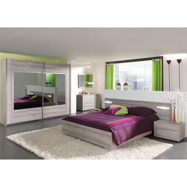Soldes chambre coucher compl te ba evi2 chez nouveau for Decoration chez soi chambre coucher