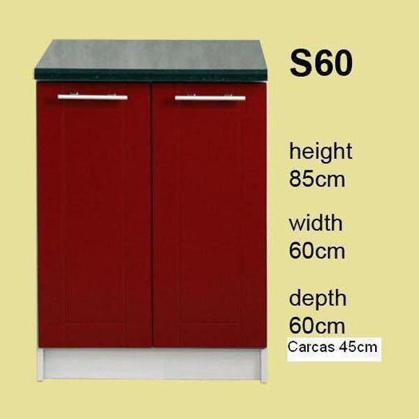 Promo meuble de cuisine 2 portes 60 cm l ment bas for Element bas de cuisine 60 cm