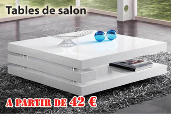 tables basses de salon en promotion