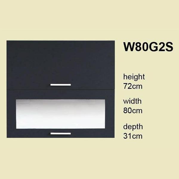 soldes meuble de cuisine 2 portes basculantes 80 cm l ment haut lisa w80g2s chez nouveau. Black Bedroom Furniture Sets. Home Design Ideas