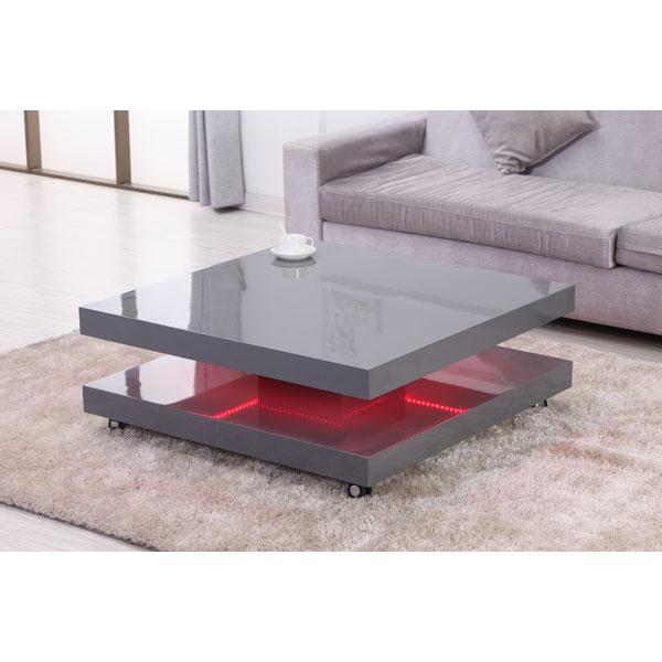 Promo table basse de salon etb c415 chez nouveau d cor bruxelles anderlecht - Table basse design avec led ...