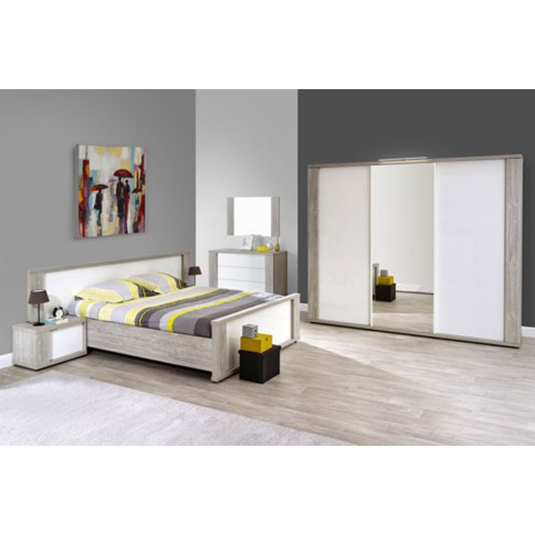 Soldes chambre coucher compl te ba kri1 chez nouveau for Chambre complete adulte solde