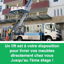 Location d'un lift pour vos meubles chez Nouveau Décor à Bruxelles (Anderlecht)